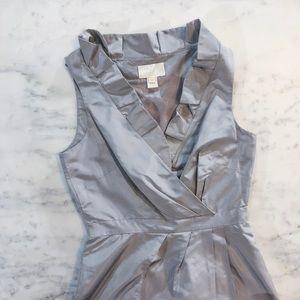 J. Crew Dresses - J Crew Silver Grey Bridesmaid Party Cocktail Dress